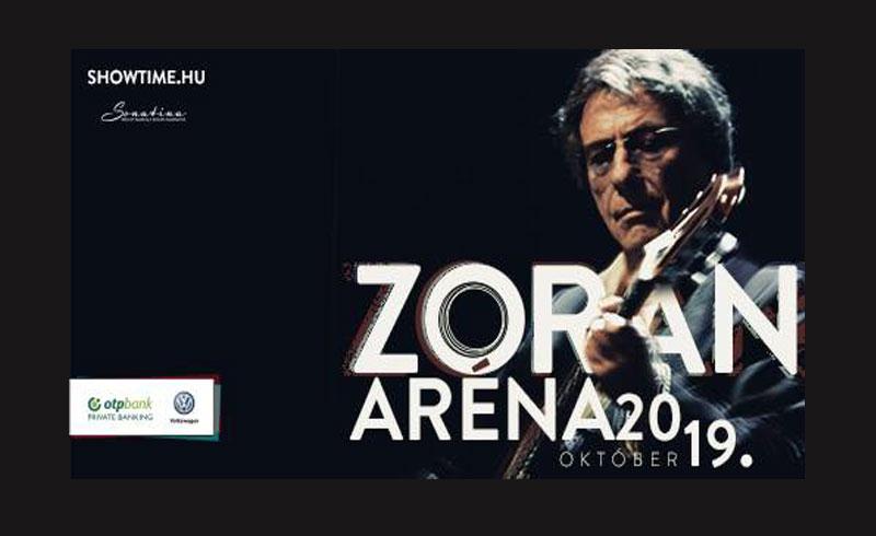 ZORÁN – ARÉNA 2019 koncert – 2019. OKTÓBER 19. 20:00 – Papp László Budapest Sportaréna – JEGYVÁSÁRLÁS