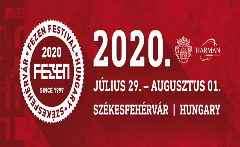 FEZEN FESZTIVÁL 2020. július 29. augusztus 01. – Székesfehérvár