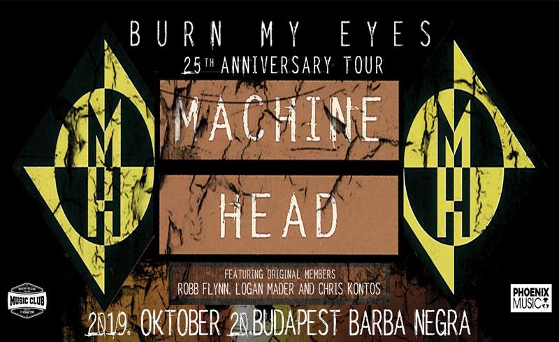Machine Head koncert – 2019. OKTÓBER 20. 19:00 – Barba Negra Music Club – JEGYVÁSÁRLÁS