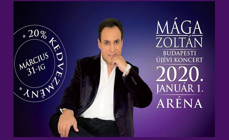 Mága Zoltán – XII. BUDAPESTI ÚJÉVI KONCERT – 2020. JANUÁR 1. 19:00 – Papp László Budapest Sportaréna – JEGYVÁSÁRLÁS