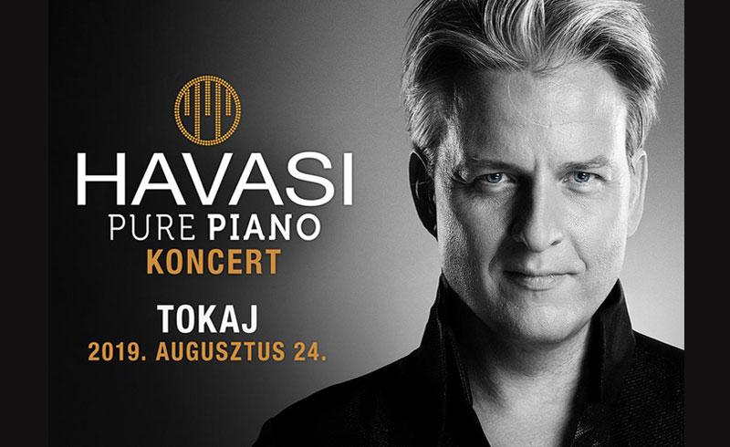 HAVASI PURE PIANO koncert – 2019. AUGUSZTUS 24. 20:00 – Tokaj Fesztiválkatlan – JEGYVÁSÁRLÁS