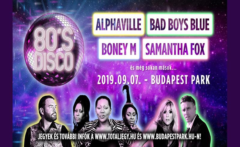 80's Disco: Alphaville, Bad Boys Blue, Boney M, Samantha Fox koncertek – 2019. SZEPTEMBER 7. Budapest Park – JEGYVÁSÁRLÁS