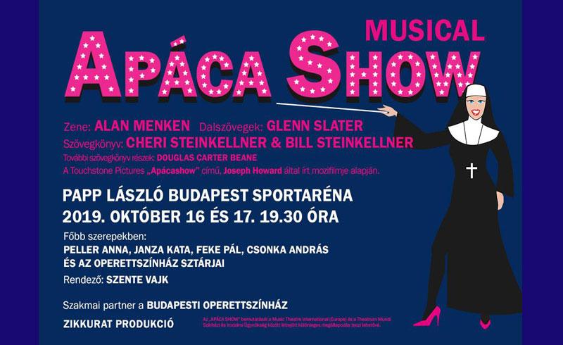 Apáca Show Musical – 2019. OKTÓBER 16.-17. 19:30. – Papp László Budapest Sportaréna