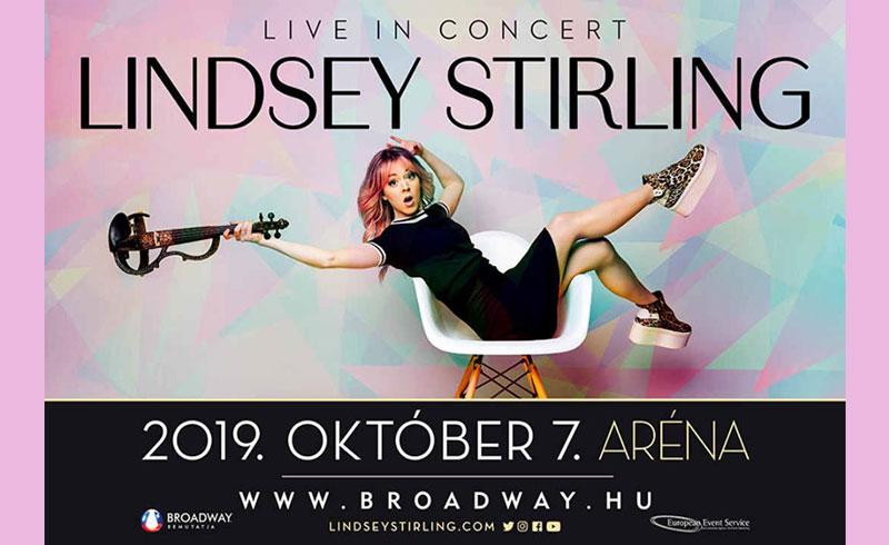 LINDSEY STIRLING Live in Concert – 2019. OKTÓBER 7. 20:00 – Papp László Budapest Sportaréna