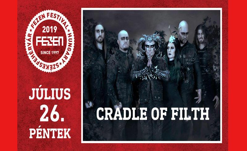 ELMARAD! – Cradle of Filth koncert – 2019. JÚLIUS 26. Székesfehérvár, Fezen Fesztivál