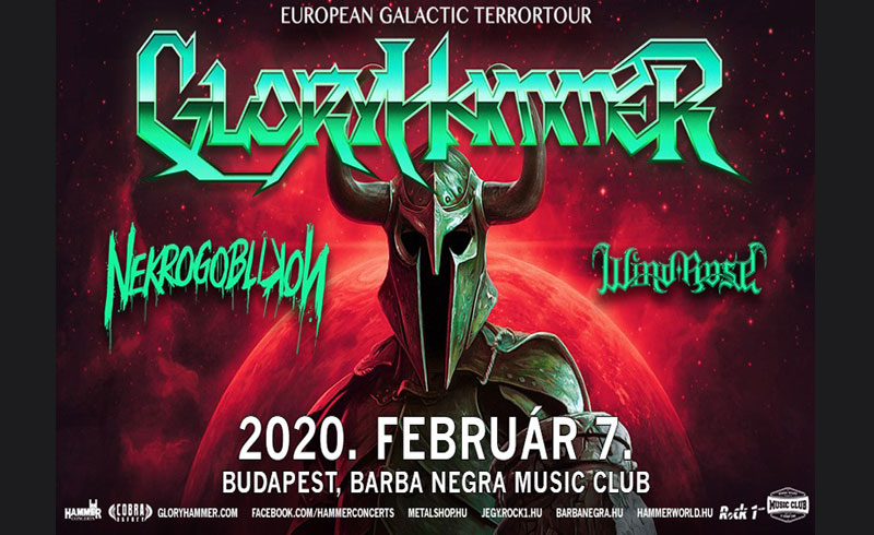 INTERGALACTIC TERRORTOUR feat. – Gloryhammer, Nekrogoblikon, Wind Rose koncertek – 2020. FEBRUÁR 07. Barba Negra Music Club