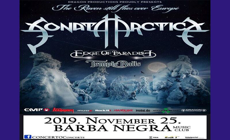 Sonata Arctica koncert – 2019. NOVEMBER 25. Barba Negra Music Club
