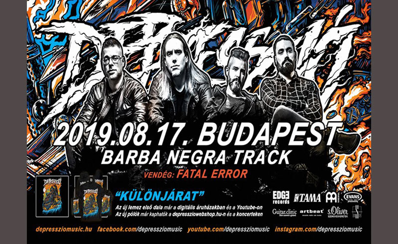 Depresszió koncert – 2019. AUGUSZTUS 17. Barba Negra Track