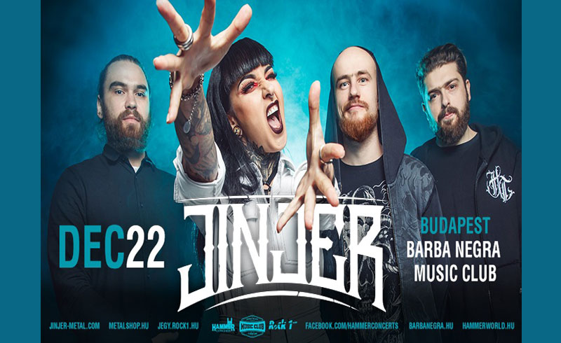 JINJER koncert – 2019. DECEMBER 22. Barba Negra Music Club