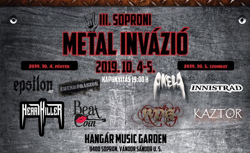 III. Soproni Metál Invázió – 2019. OKTÓBER 4-5. Sopron, Hangár Music Garden