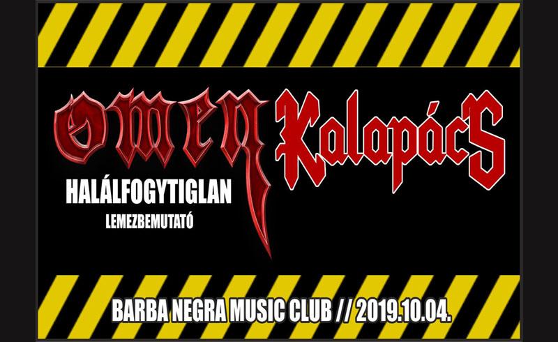 Omen, Kalapács koncertek – 2019. OKTÓBER 04. Barba Negra Music Club