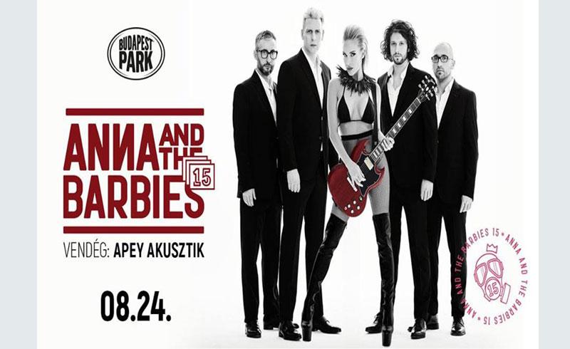Anna and the Barbies koncert, vendég: Apey akusztik – 2019. AUGUSZTUS 24. Budapest Park