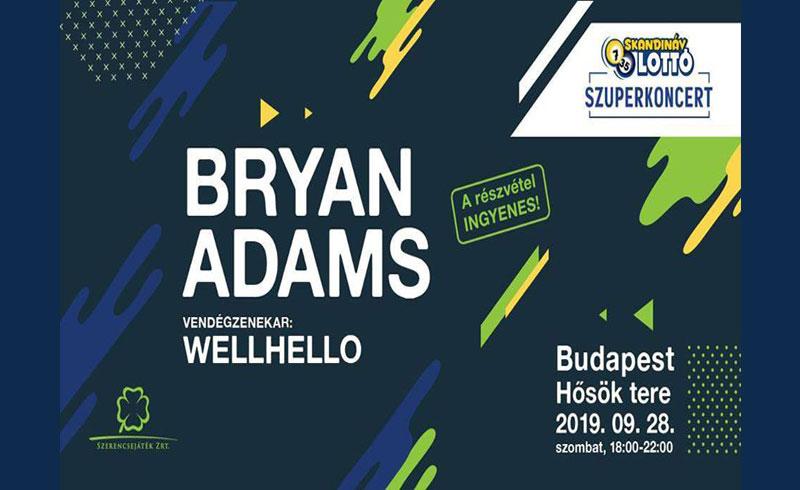 Bryan Adams koncert 2019 – 2019. SZEPTEMBER 28. Hősök tere – INGYENES!