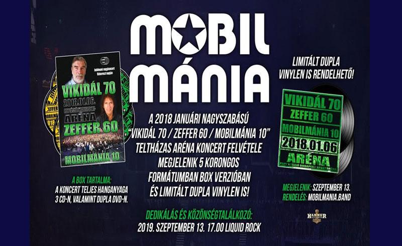 """MOBILMÁNIA: nézz meg két felvételt a """"Vikidál 70 / Zeffer 60 / Mobilmánia 10"""" nagykoncertről"""