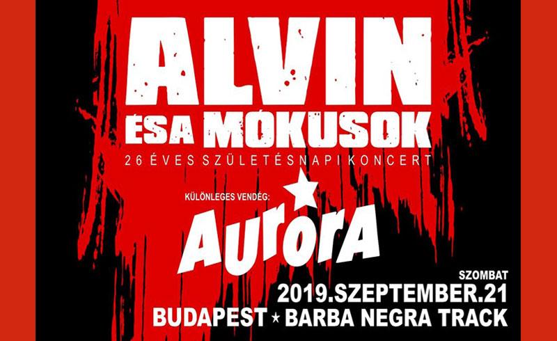 ALVIN és a Mókusok koncert Vendég: Auróra – 2019. SZEPTEMBER 21. Barba Negra Track