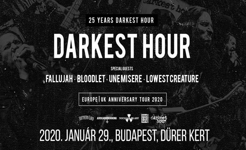 25 Years Darkest Hour |Europe Anniversary Tour – 2020. JANUÁR 29. Dürer Kert