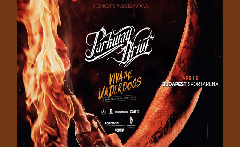 Parkway Drive koncert + special guests – 2020. ÁPRILIS 6. hétfő 18 óra Budapest, Papp László Sportaréna