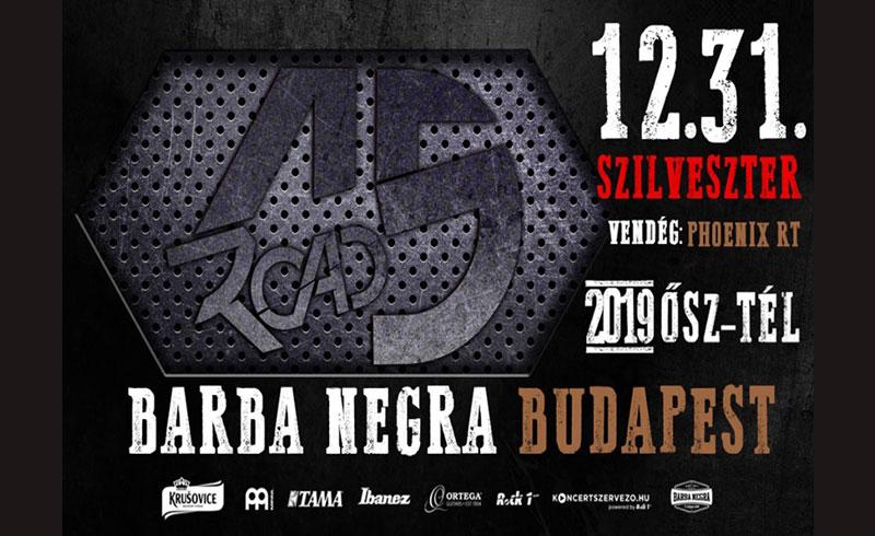 ROAD 15 Szilveszter – 2019. DECEMBER 31. Budapest, Barba Negra Music Club