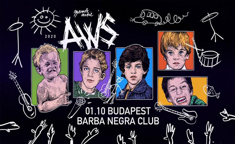AWS koncert Budapest – 2020. JANUÁR 10. Budapest, Barba Negra Music Club