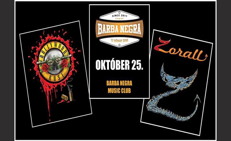 Zorall – Hollywood Rose koncertek – 2019. OKTÓBER 25. Barba Negra Music Club