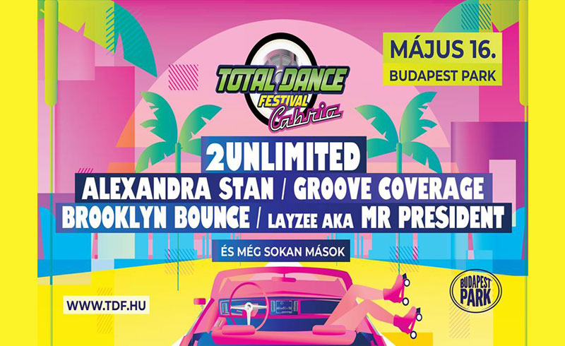Total Dance Festival Cabrio – 2020. MÁJUS 16. Budapest Park