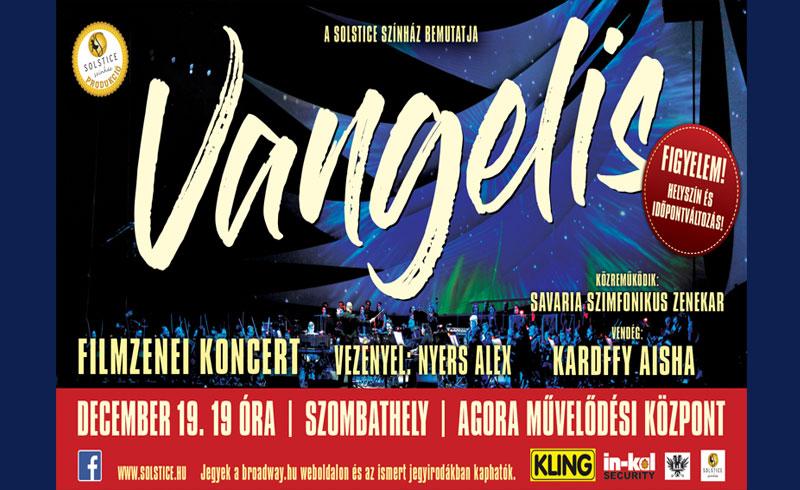 Vangelis Filmzenei Koncert – 2019. DECEMBER 19. 19:00 óra Szombathely, Agora Művelődési és Sportház