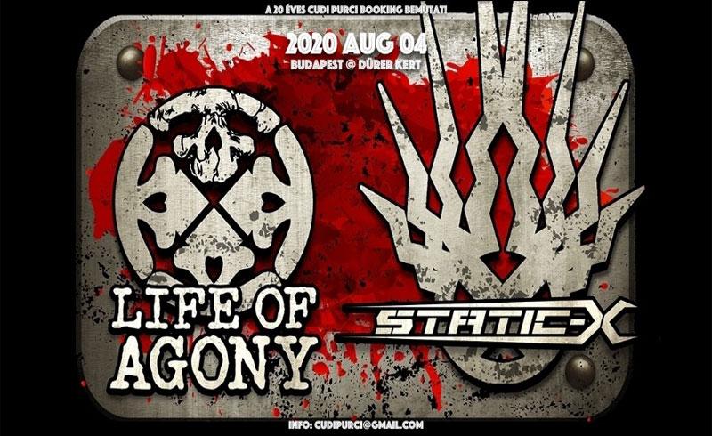 Life Of Agony, Static X koncertek – 2020. AUGUSZTUS 04. Dürer Kert