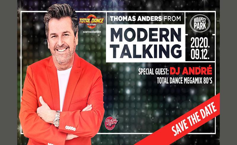 Thomas Anders from Modern Talking – Budapest Park – 2020. SZEPTEMBER 12. Budapest Park