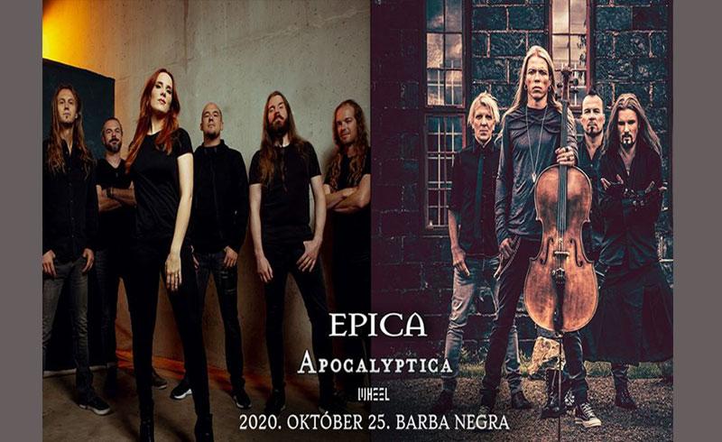 Epica és az Apocalyptica közös turnén ősszel a Barba Negrában!