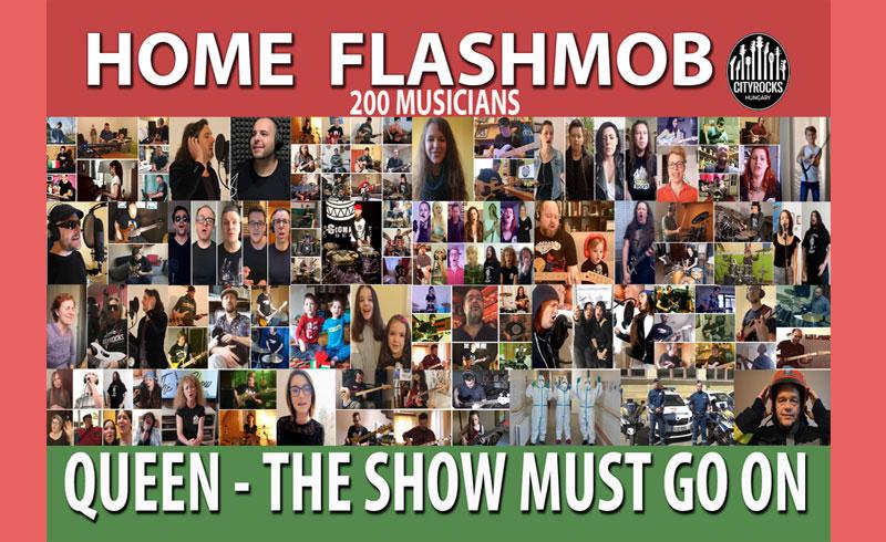 Cityrocks Hungary – 200 hazai zenész a QUEEN legendás dalával üzeni home flashmobjában: A shownak folytatódnia kell!