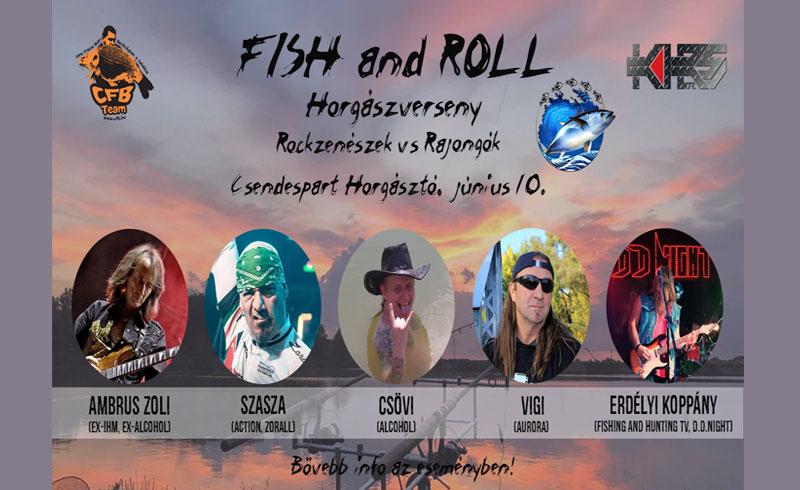 Fish and Roll horgászverseny – Rockzenészek vs Rajongók – 2019. JÚNIUS 10. Délegyháza Csendespart Horgásztó – LEZAJLOTT