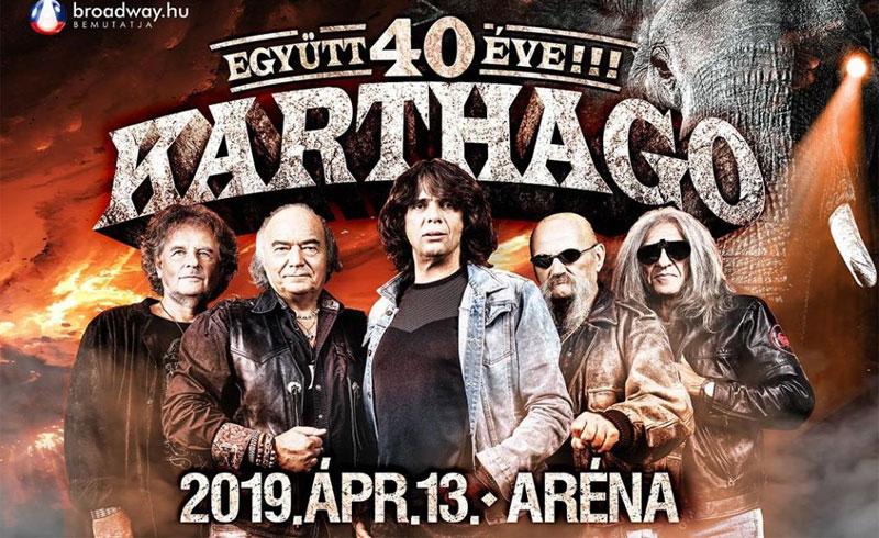 Karthago koncert – 2019. ÁPRILIS 13. – BUDAPEST ARÉNA – LEZAJLOTT