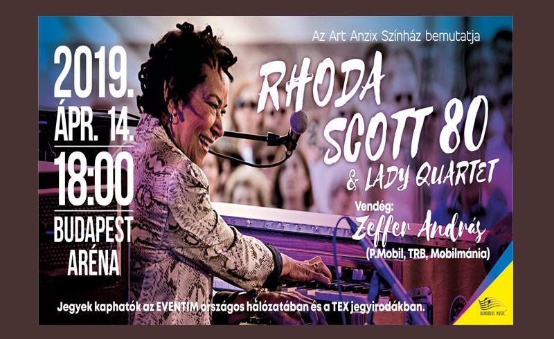 IDŐPONT VÁLTOZÁS – Rhoda Scott 80. & Lady Quartet – 2019. ÁPRILIS 14. 18:00 Papp László Budapest Sportaréna – LEZAJLOTT