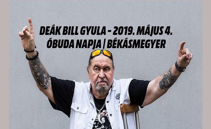 Deák Bill Gyula koncert – 2019. MÁJUS 4. 18:30 – Óbuda Csobánka tér – LEZAJLOTT