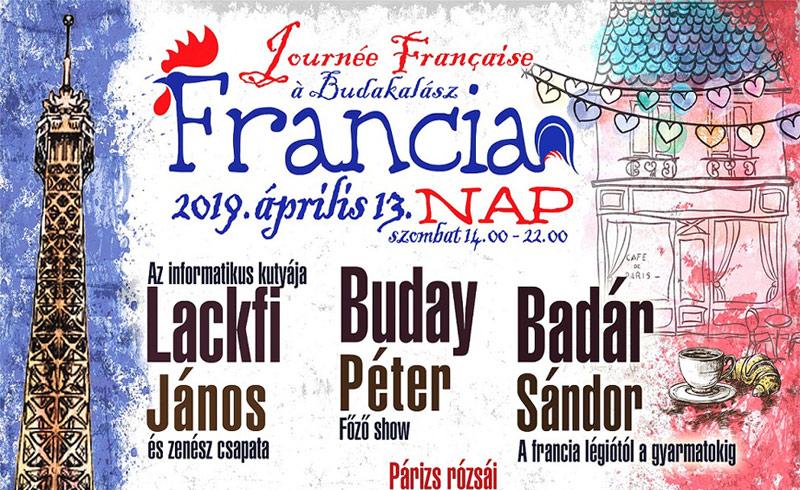 Francia Nap Budakalászon – 2019. ÁPRILIS 13. 14:00-22:00 – Budakalász Kós Károly Művelődési Ház – LEZAJLOTT