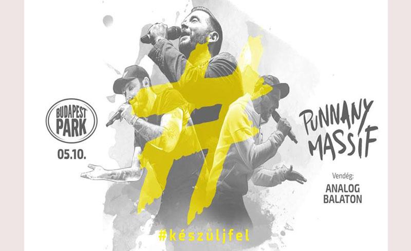 Punnany Massif koncert – vendég: Analog Balaton – 2019. MÁJUS 10. 18:00 – Budapest Park – JEGYVÁSÁRLÁS