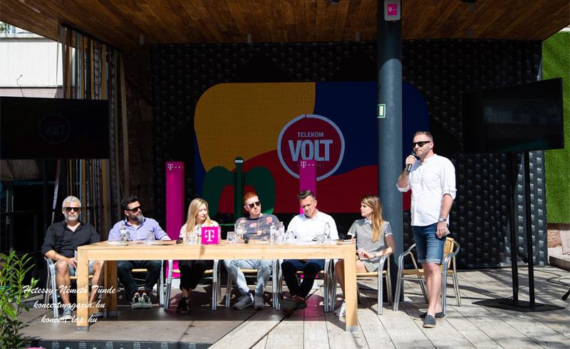 Új helyszínen a Telekom VOLT Fesztivál! Hangzott el a szerdai sajtótájékoztatón az Akvárium Klub teraszán 2019.06.12.