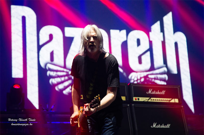 Nazareth koncert Budapest – koncertfotók – 2019.11.08. Papp László Budapest Sportaréna