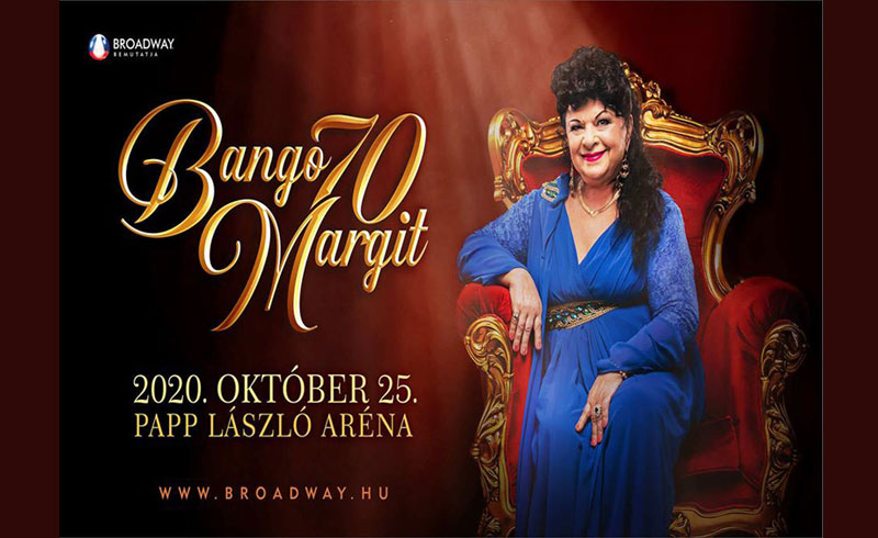 Bangó Margit 70 utolsó nagykoncertje októberben a Papp László Budapest Sportarénában