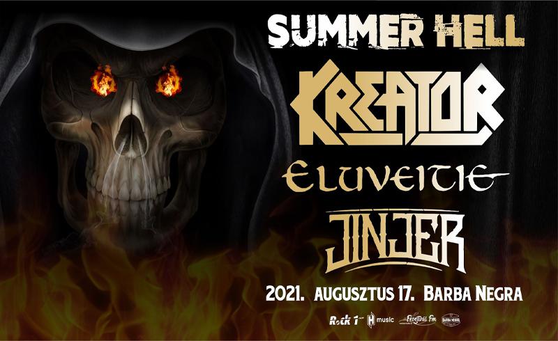 SUMMER HELL fesztivál: augusztusban együtt jön a KREATOR, az ELUVEITIE és a JINJER a Barba Negrába!